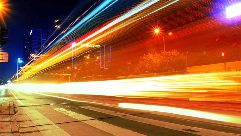 street blurred lights